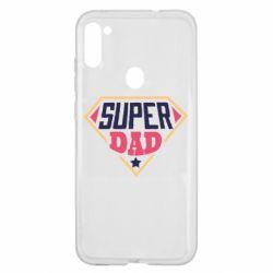 Чехол для Samsung A11/M11 Super dad text