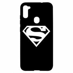 Чехол для Samsung A11/M11 Superman одноцветный