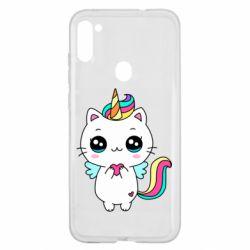 Чохол для Samsung A11/M11 The cat is unicorn
