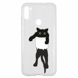 Чехол для Samsung A11/M11 The cat tore the pocket