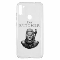 Чехол для Samsung A11/M11 The witcher art black and gray