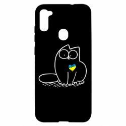 Чехол для Samsung A11/M11 Типовий український кіт