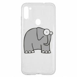 Чехол для Samsung A11/M11 удивленный слон