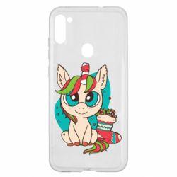 Чехол для Samsung A11/M11 Unicorn Christmas