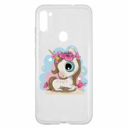 Чохол для Samsung A11/M11 Unicorn with flowers