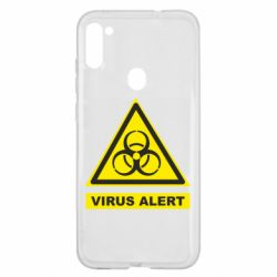 Чехол для Samsung A11/M11 Warning Virus alers