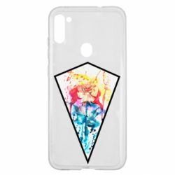 Чехол для Samsung A11/M11 Watercolor flower in a geometric frame