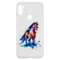 Чехол для Samsung A11/M11 Watercolor horse