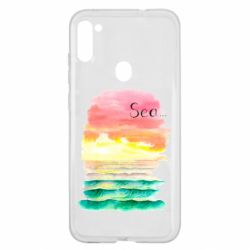 Чехол для Samsung A11/M11 Watercolor pattern with sea