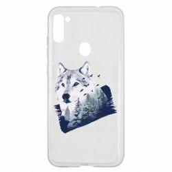 Чехол для Samsung A11/M11 Wolf and forest