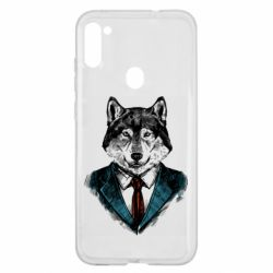 Чехол для Samsung A11/M11 Wolf in costume