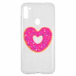 Чехол для Samsung A11/M11 Я люблю пончик