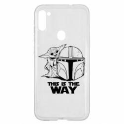 Чехол для Samsung A11/M11 Yoda and Mandalore Helmet