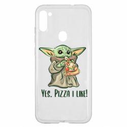 Чехол для Samsung A11/M11 Yoda and pizza