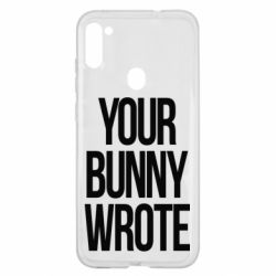 Чохол для Samsung A11/M11 Your bunny wrote
