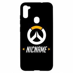 Чехол для Samsung A11/M11 Your Nickname Overwatch