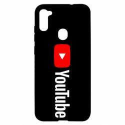 Чехол для Samsung A11/M11 Youtube logotype