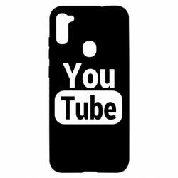 Чохол для Samsung A11/M11 Youtube vertical logo