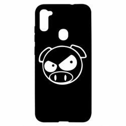Чехол для Samsung A11/M11 Злая свинка