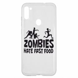 Чохол для Samsung A11/M11 Zombies hate fast food