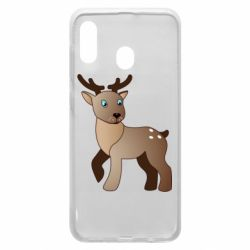 Чехол для Samsung A20 Cartoon deer