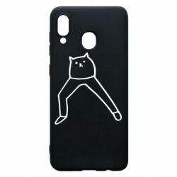 Чохол для Samsung A20 Cat in pants