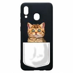 Чехол для Samsung A20 Cat in your pocket