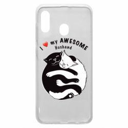 Чехол для Samsung A20 Cats and love