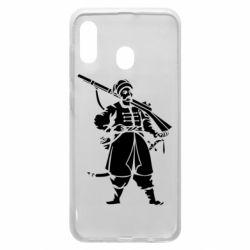 Чехол для Samsung A20 Cossack with a gun