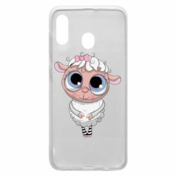 Чехол для Samsung A20 Cute lamb with big eyes