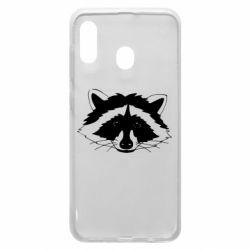 Чохол для Samsung A20 Cute raccoon face