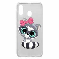 Чехол для Samsung A20 Cute raccoon