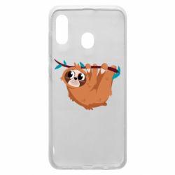 Чохол для Samsung A20 Cute sloth