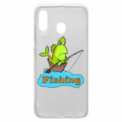 Чехол для Samsung A20 Fish Fishing