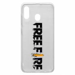 Чехол для Samsung A20 Free Fire spray