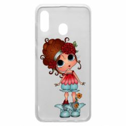 Чехол для Samsung A20 Girl with big eyes