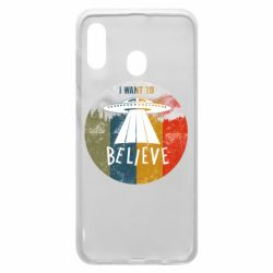 Чехол для Samsung A20 I want to believe text