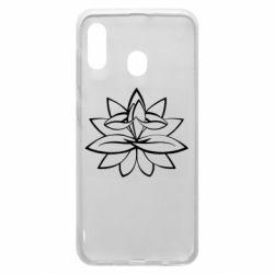 Чохол для Samsung A20 Lotus yoga