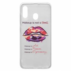 Чехол для Samsung A20 Make Up Is Not A Mask Lips