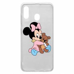 Чохол для Samsung A20 Minnie And Bear