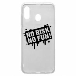 Чохол для Samsung A20 No Risk No Fun