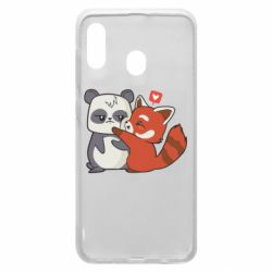 Чохол для Samsung A20 Panda and fire panda