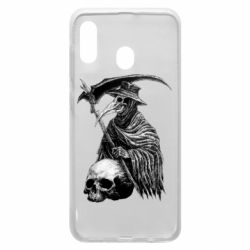 Чехол для Samsung A20 Plague Doctor graphic arts
