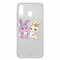 Чохол для Samsung A20 Rabbits In Love
