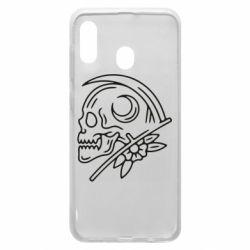 Чохол для Samsung A20 Skull with scythe