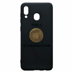 Чохол для Samsung A20 Toss a coin to your witcher ( орен )