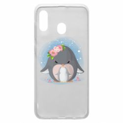 Чехол для Samsung A20 Two cute penguins