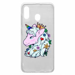 Чохол для Samsung A20 Unicorn Princess