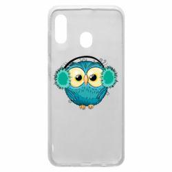 Чехол для Samsung A20 Winter owl