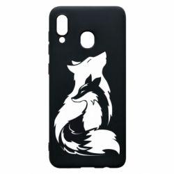Чехол для Samsung A20 Wolf And Fox